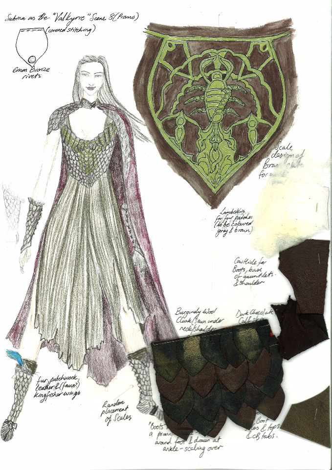 Costume Design Illustration - Sabina the Valkyrie  sc 1 st  Hayley Nebauer & Hayley Nebauer - Costume Designer | Fantasy and Abstract Costume